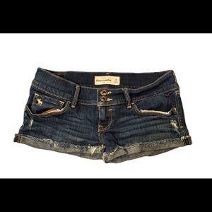 Abercrombie girls jean shorts